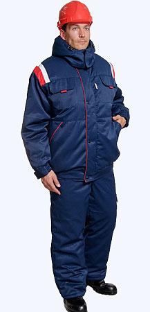 Утепленные костюмы.  Костюм состоит из куртки и полукомбинезона.  Куртка прямого силуэта на притачном поясе...